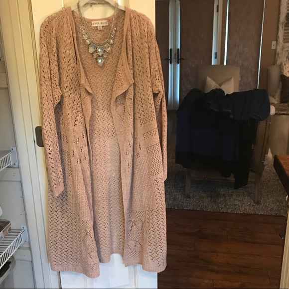 XL Knox Rose blush/cream sweater